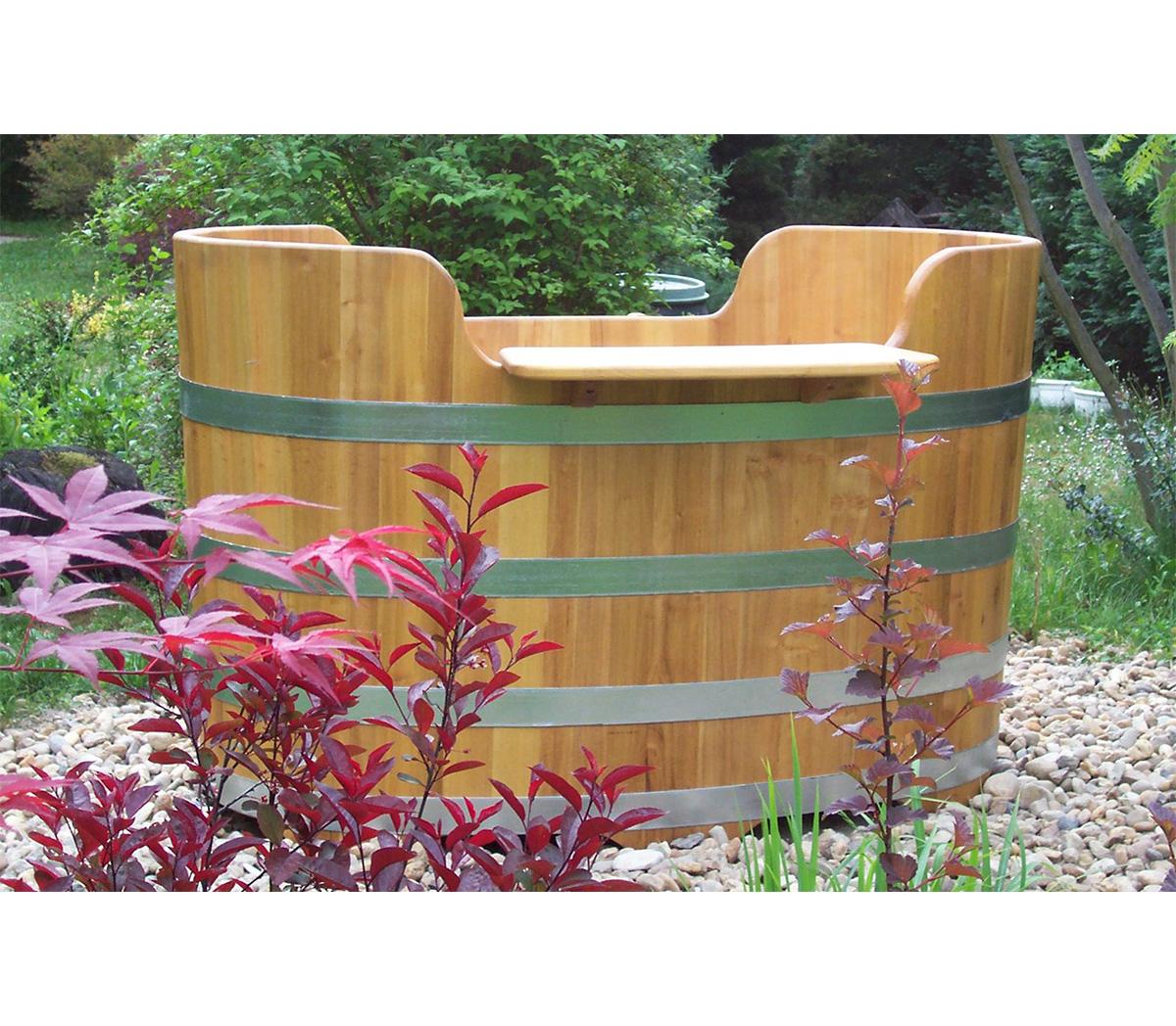 holzbadewanne aus akazienholz i badezuber i badetonne i badebottich robinie f r badezimmer. Black Bedroom Furniture Sets. Home Design Ideas